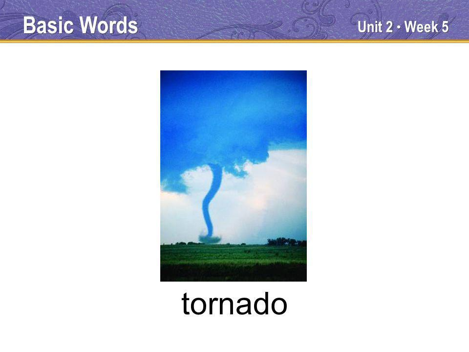 Unit 2 Week 5 tornado Basic Words