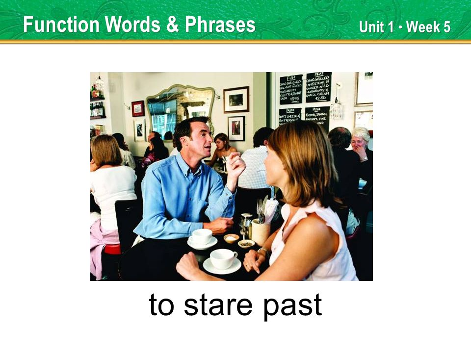 Unit 1 Week 5 to stare past Function Words & Phrases