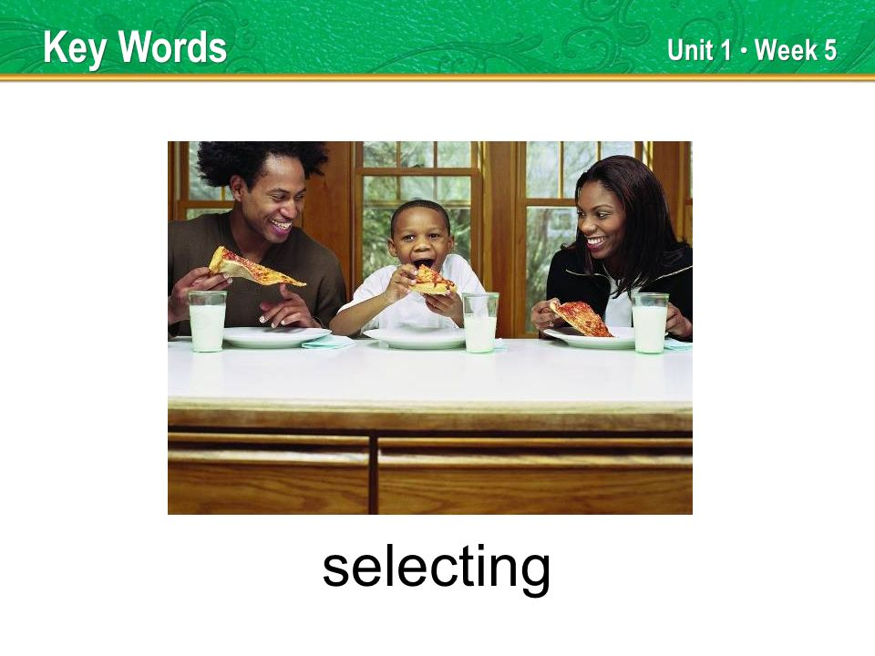 Unit 1 Week 5 selecting Key Words