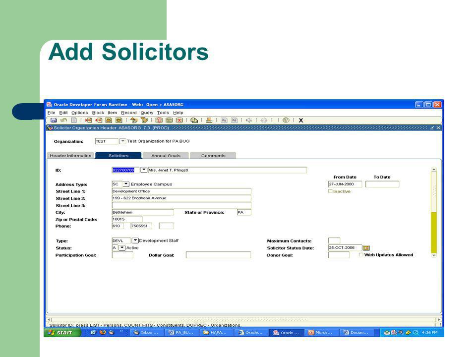 Add Solicitors