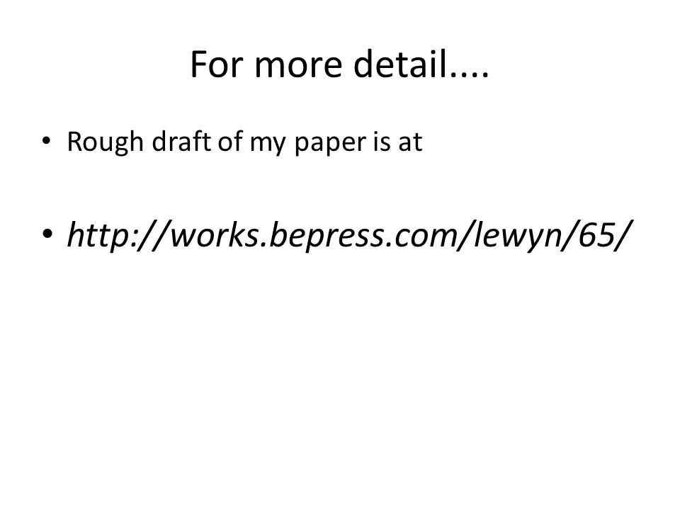 For more detail.... Rough draft of my paper is at http://works.bepress.com/lewyn/65/