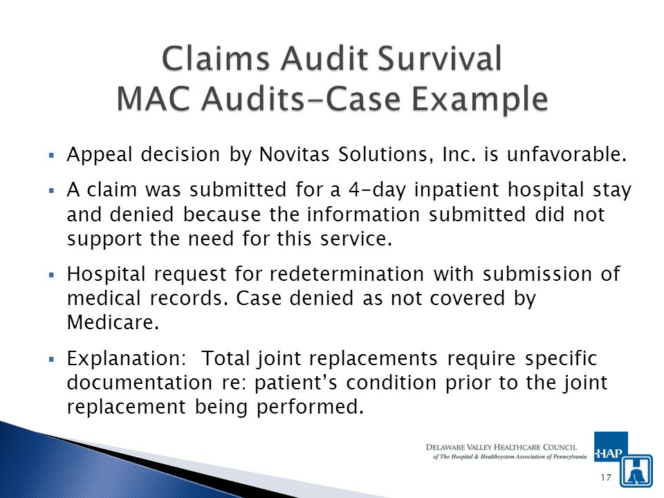 Appeal decision by Novitas Solutions, Inc. is unfavorable.