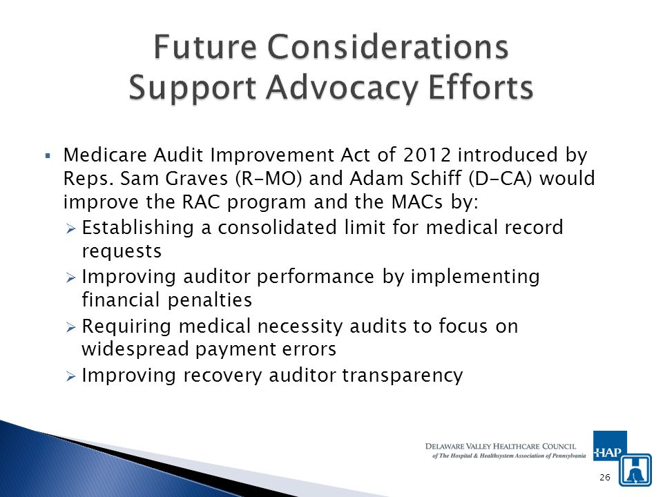 Medicare Audit Improvement Act of 2012 introduced by Reps.