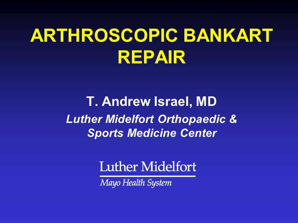 ARTHROSCOPIC BANKART REPAIR T.