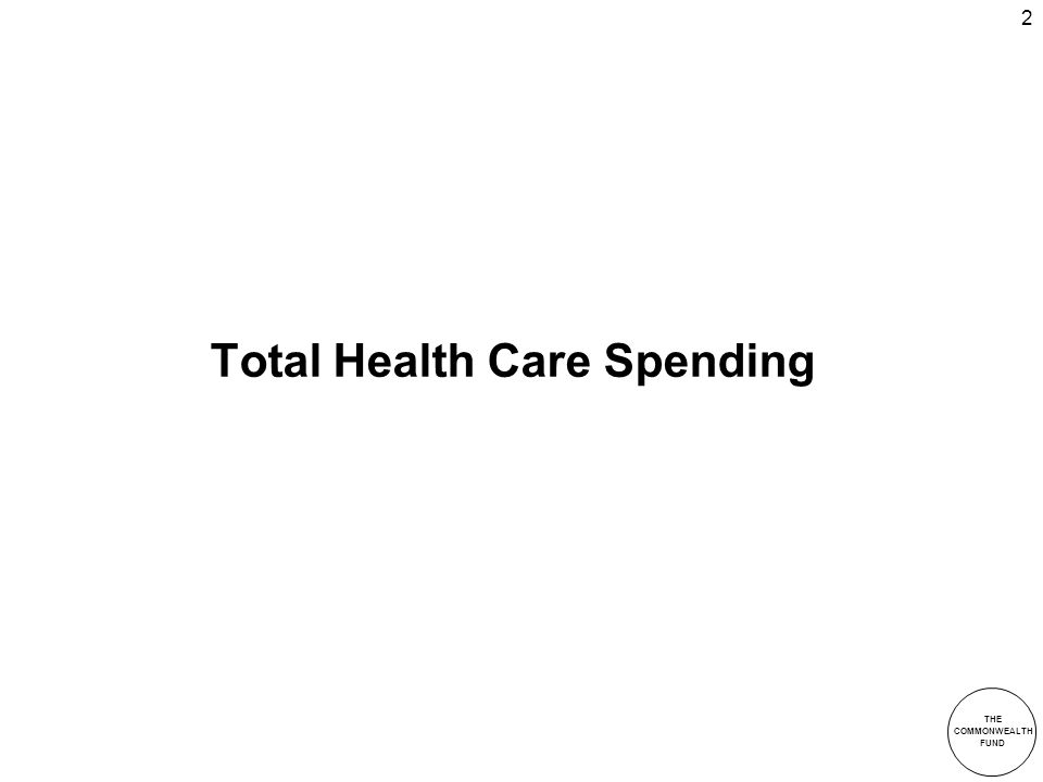 THE COMMONWEALTH FUND 2 Total Health Care Spending