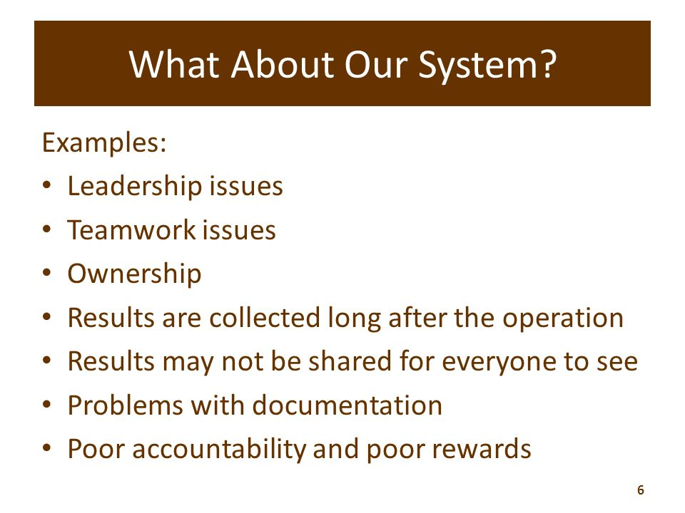 What About Our System.
