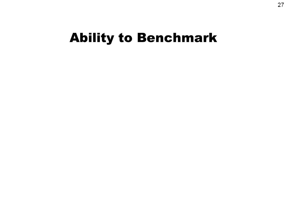 27 Ability to Benchmark
