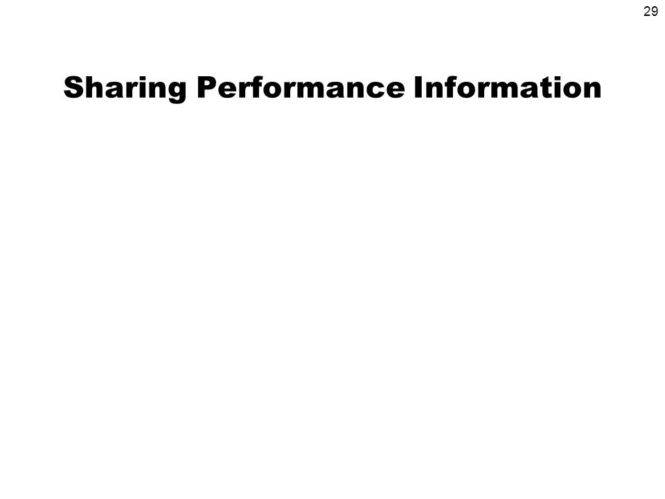 29 Sharing Performance Information