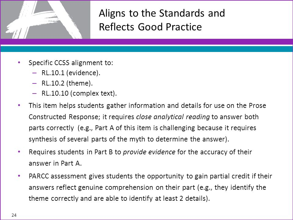 Specific CCSS alignment to: – RL.10.1 (evidence). – RL.10.2 (theme).