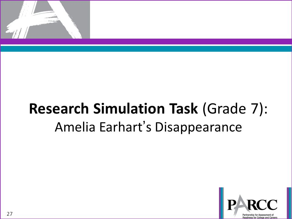 Research Simulation Task (Grade 7): Amelia Earharts Disappearance 27