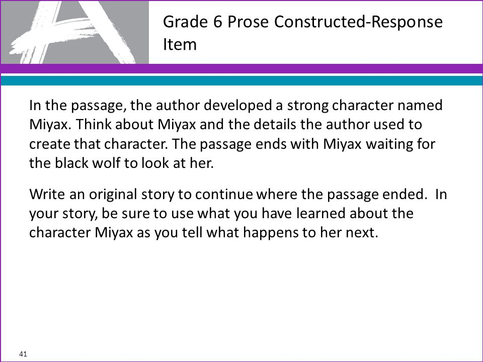 In the passage, the author developed a strong character named Miyax.