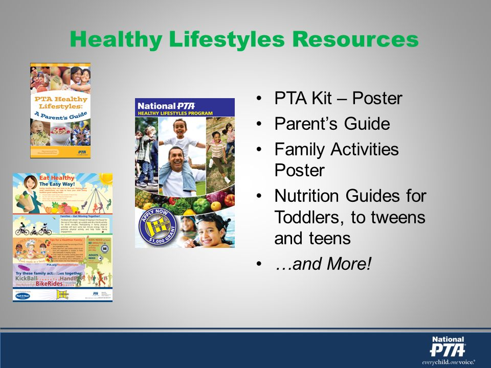 Healthy Lifestyles Resources PTA Kit – Poster Parents Guide Family Activities Poster Nutrition Guides for Toddlers, to tweens and teens …and More!