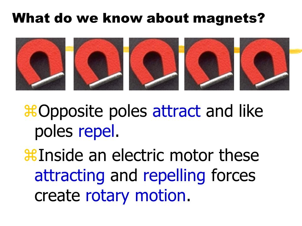 Electricity and Magnetism zA coil of wire that has an electric current passed through it becomes an electromagnet.