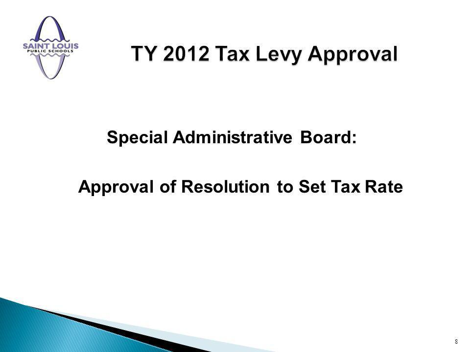 Special Administrative Board: Approval of Resolution to Set Tax Rate 8