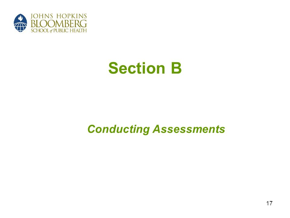 17 Section B Conducting Assessments