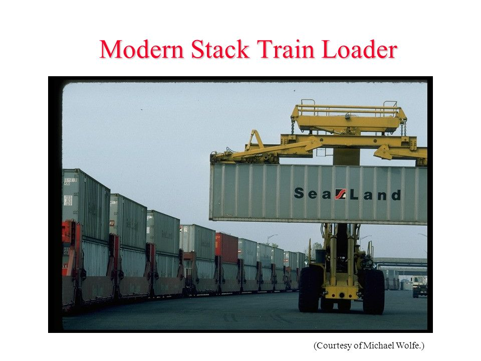 Modern Stack Train Loader (Courtesy of Michael Wolfe.)