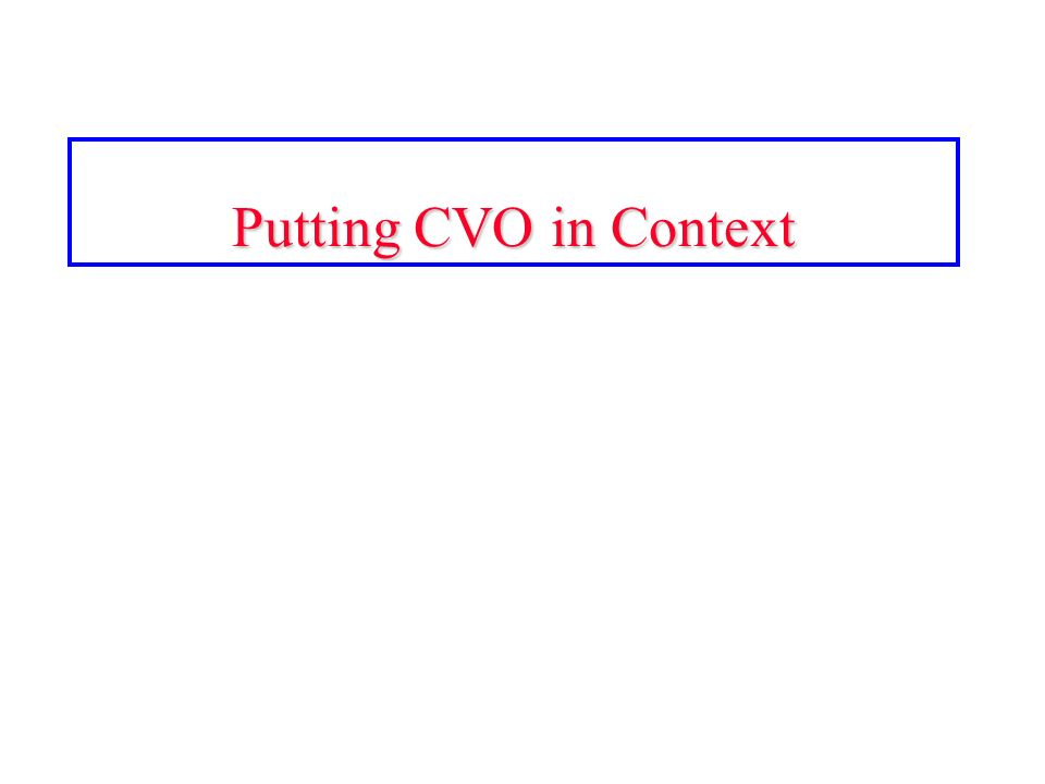 Putting CVO in Context