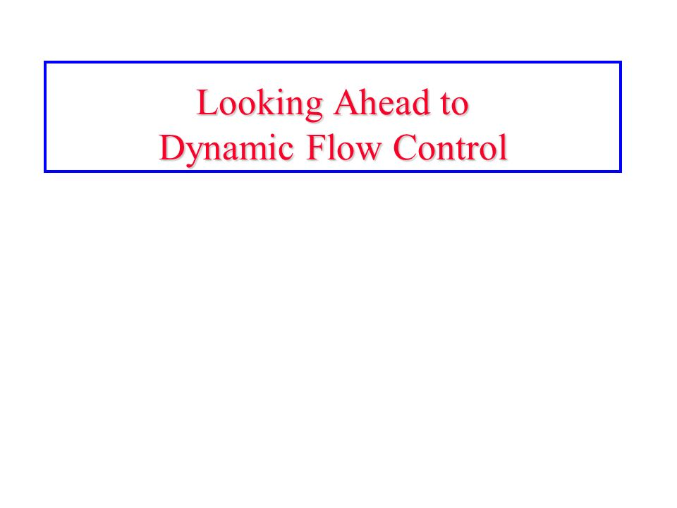 Looking Ahead to Dynamic Flow Control
