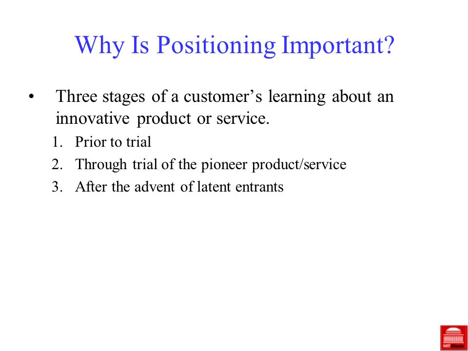 Why Is Positioning Important.