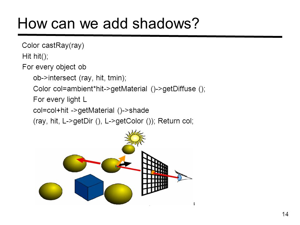 How can we add shadows.