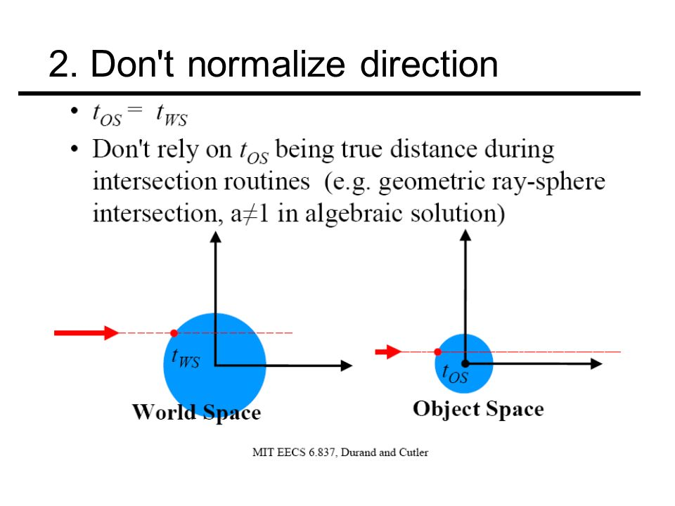 2. Don t normalize direction