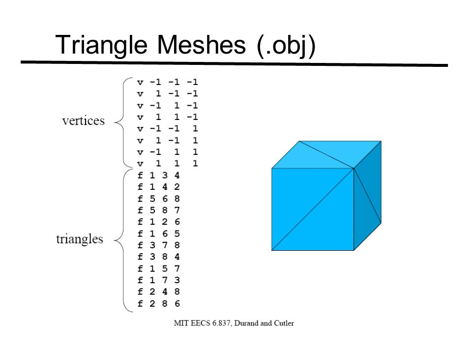 Triangle Meshes (.obj)