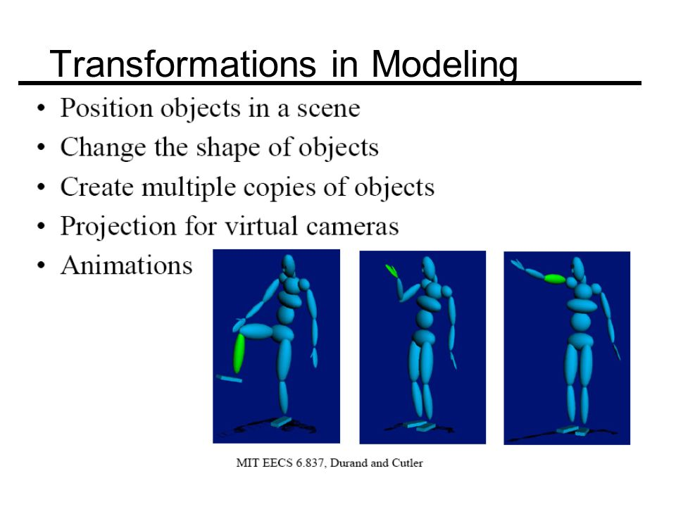 Transformations in Modeling