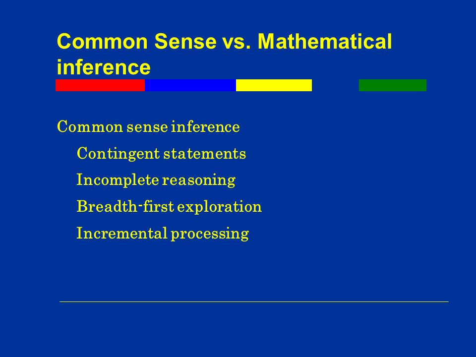 Common Sense vs.