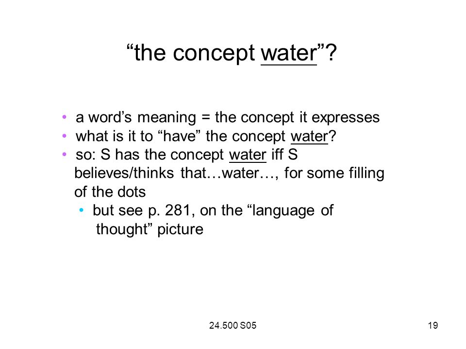 24.500 S0519 the concept water.