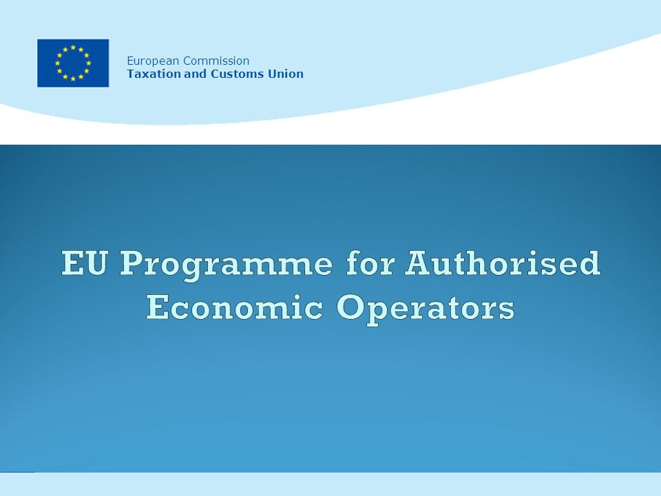 1 European Commission Taxation and Customs Union European Commission Taxation and Customs Union
