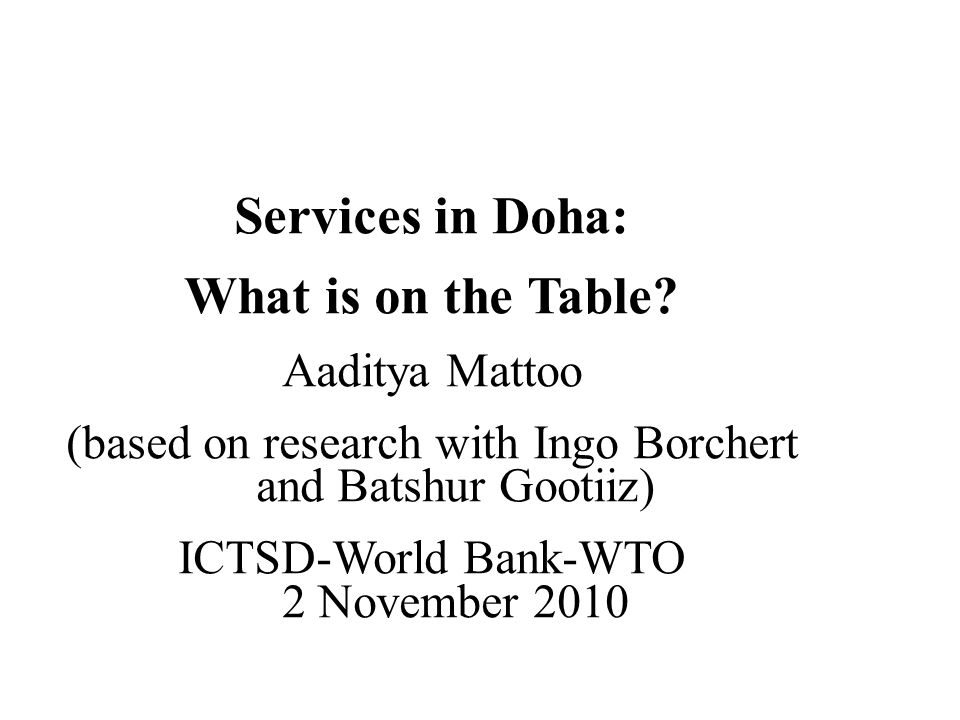 Services in Doha: What is on the Table.