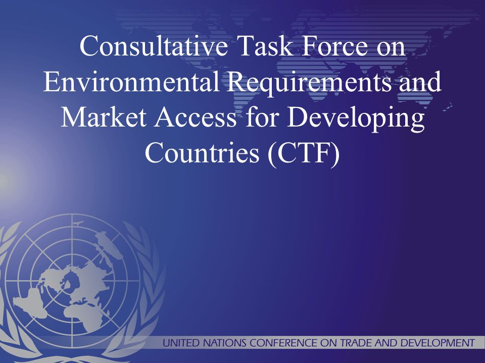 Consultative Task Force on Environmental Requirements and Market Access for Developing Countries (CTF)