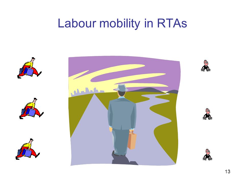 13 Labour mobility in RTAs