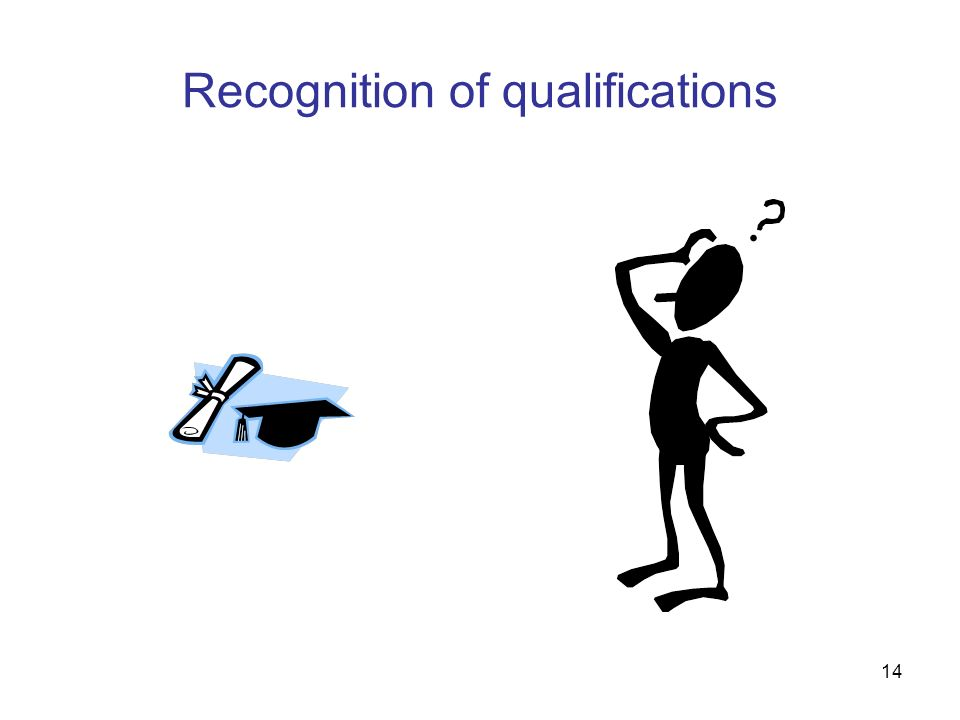 14 Recognition of qualifications