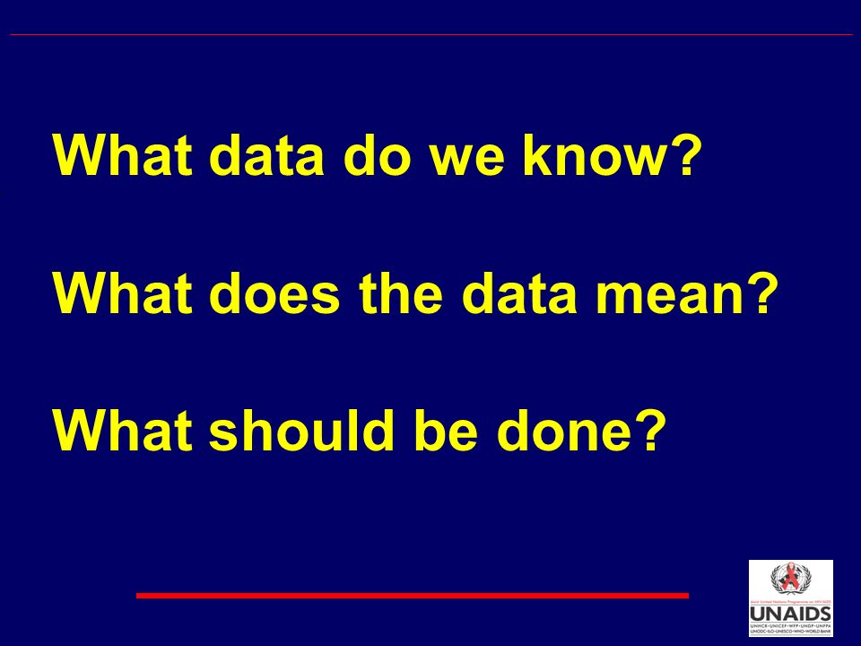 What data do we know What does the data mean What should be done