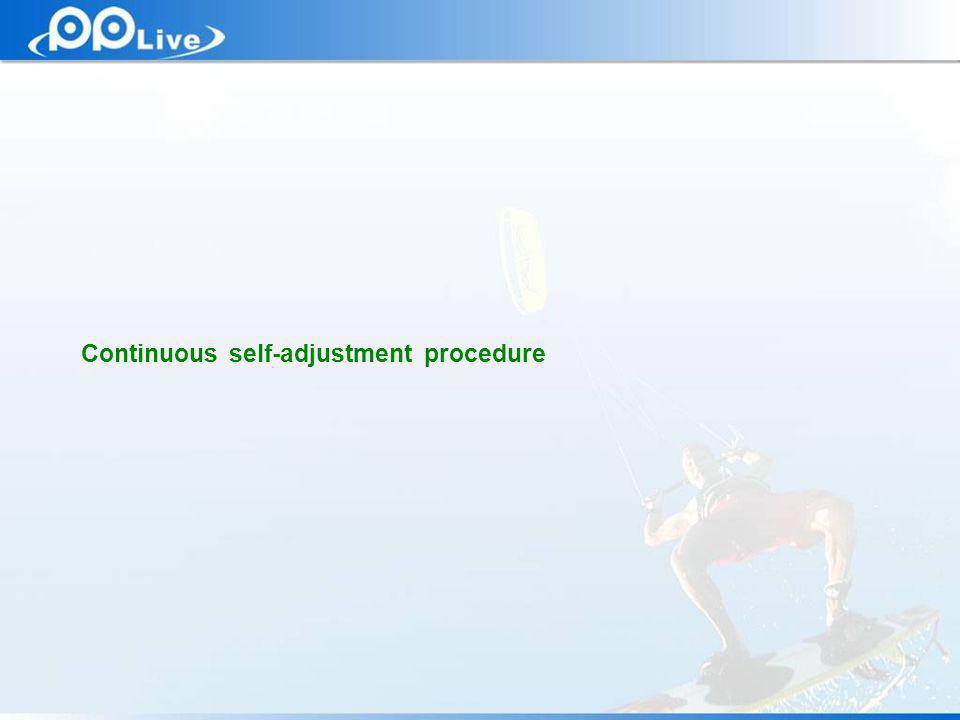 Private & Confidential Continuous self-adjustment procedure