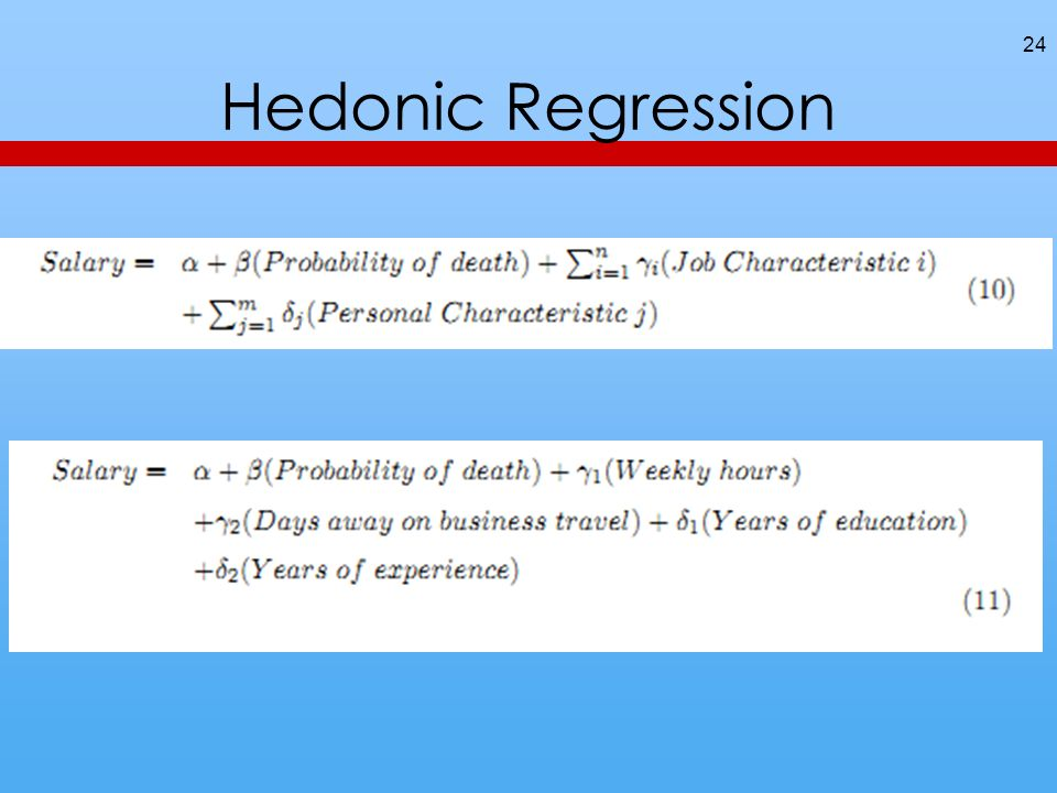 Hedonic Regression 24