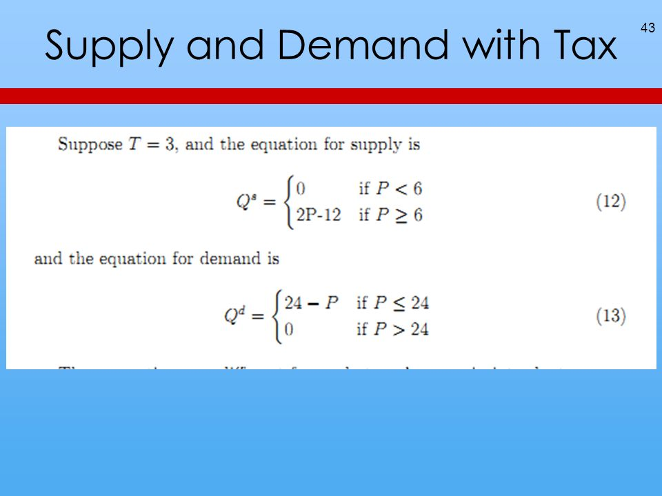 Supply and Demand with Tax 43
