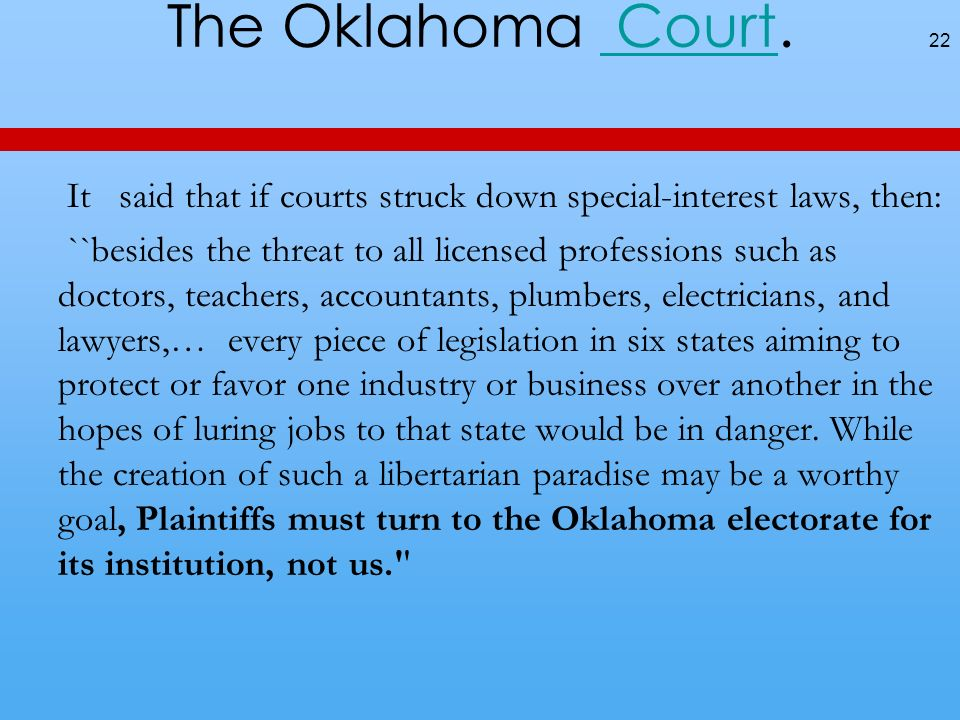 The Oklahoma Court.