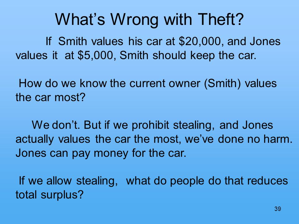 39 Whats Wrong with Theft.