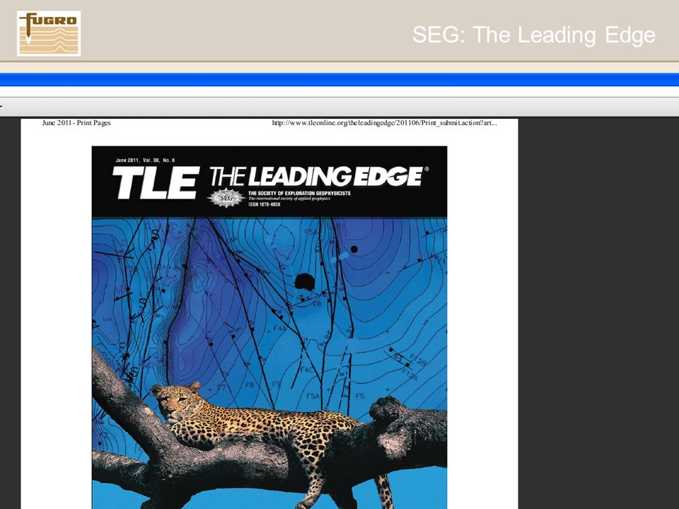 www.fugro.com11 SEG: The Leading Edge
