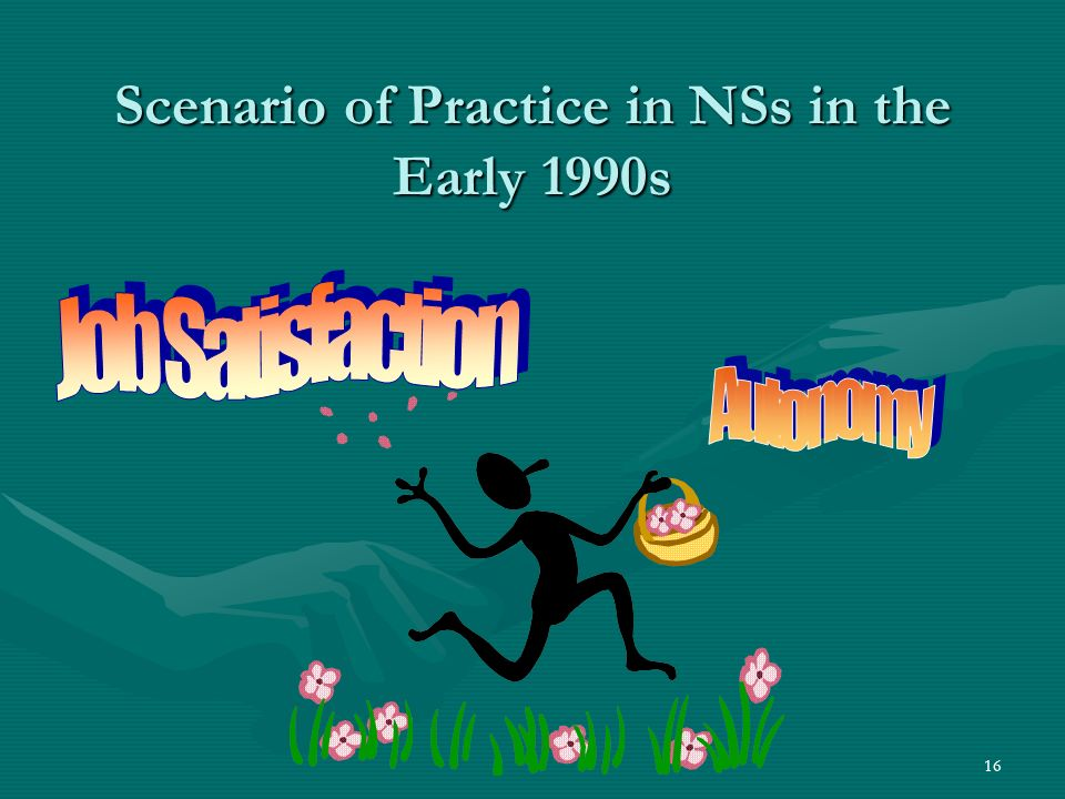 16 Scenario of Practice in NSs in the Early 1990s