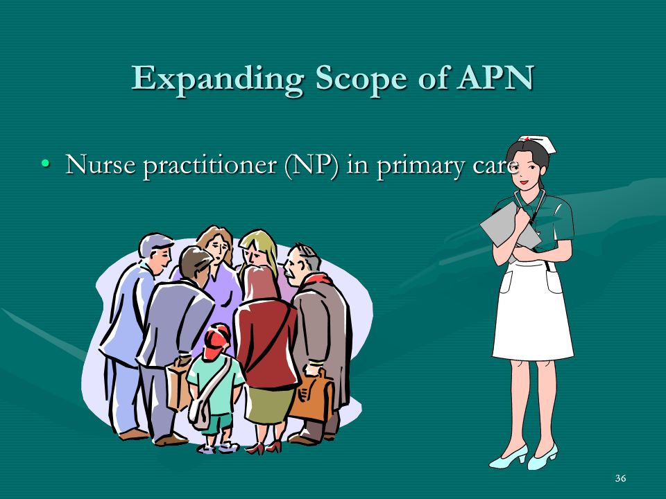36 Expanding Scope of APN Nurse practitioner (NP) in primary careNurse practitioner (NP) in primary care