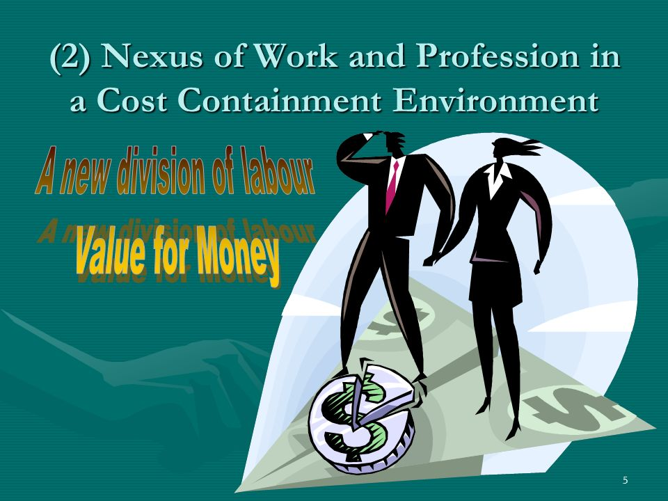 5 (2) Nexus of Work and Profession in a Cost Containment Environment