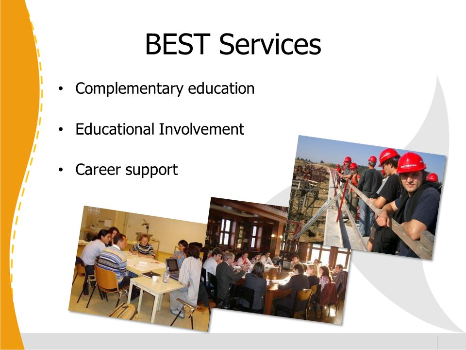 BEST Services Complementary education Educational Involvement Career support