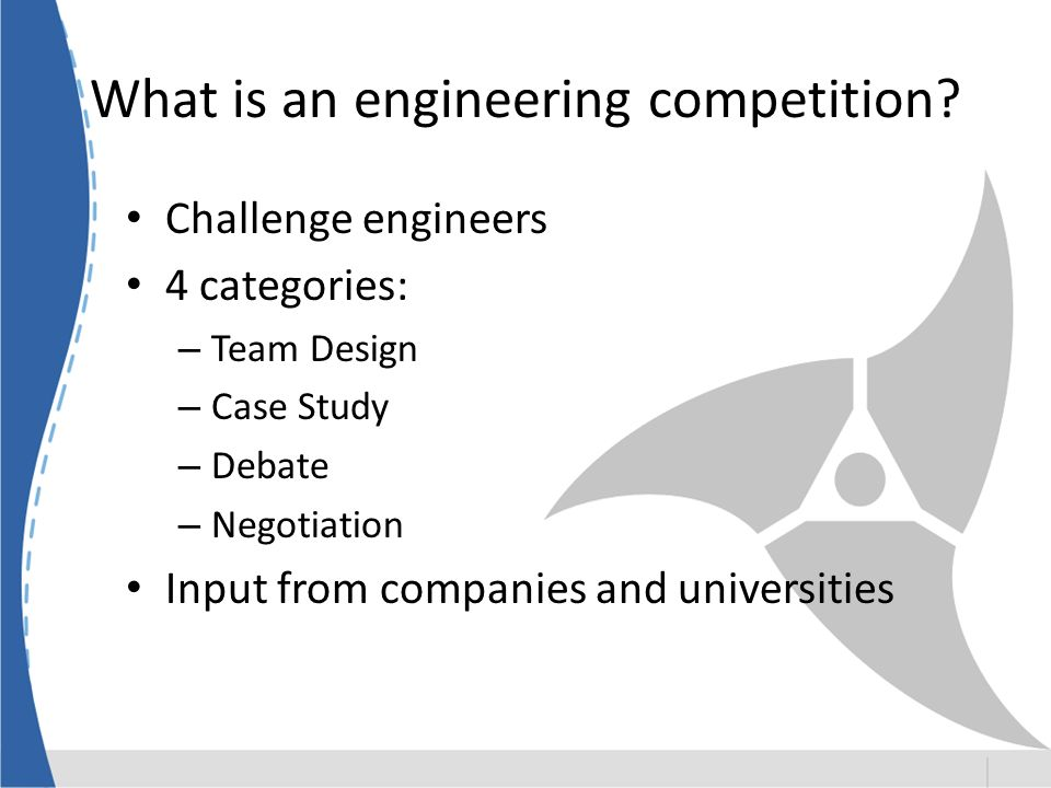 What is an engineering competition.