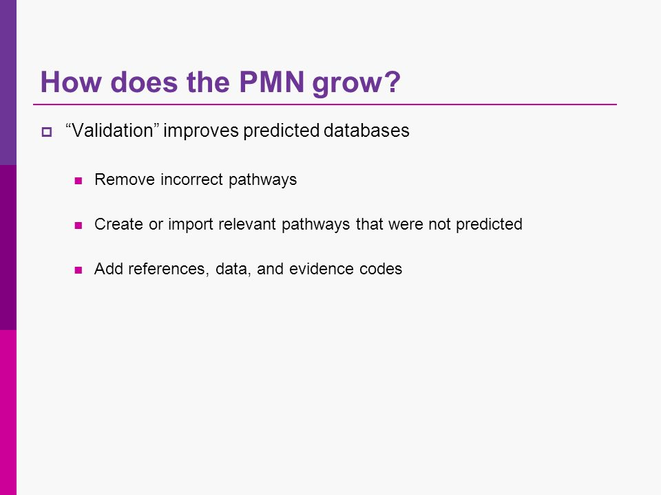 How does the PMN grow.