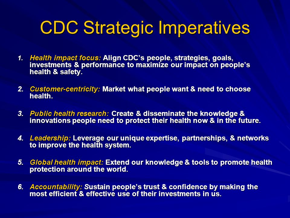 CDC Strategic Imperatives 1.