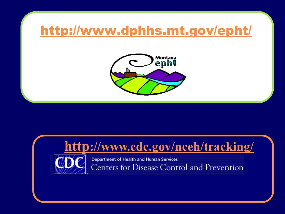 http://www.dphhs.mt.gov/epht/ http ://www.cdc.gov/nceh/tracking/