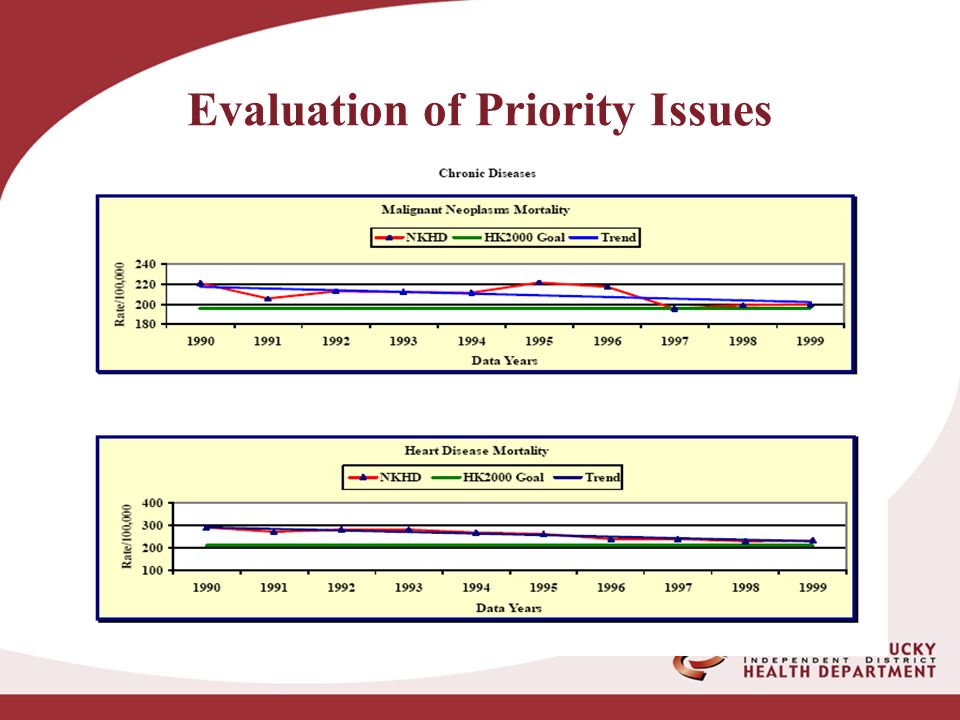 Evaluation of Priority Issues